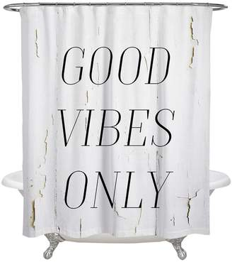 Oliver Gal The Good Vibes Only Shower Curtain