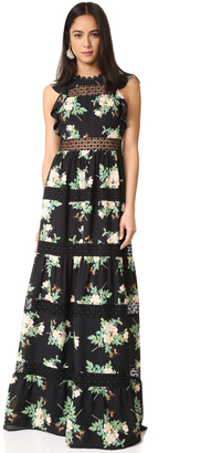 Whistles Brianna Floral Lace Maxi Dress $749 thestylecure.com