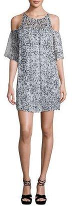 Ella Moss Carlotta Metallic Leopard-Print Dress $238 thestylecure.com