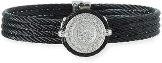 Alor Noir Diamond Disc Bangle, Black