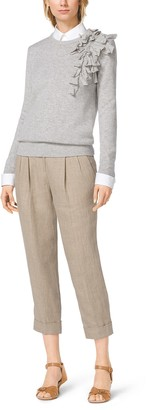 Michael Kors Hemp Linen Capri Trousers