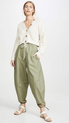 Bassike Pull On Parachute Detail Pants
