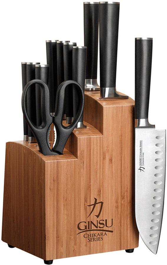 Ginsu Cutlery, Chikara Series 12 Piece Bamboo Block Set