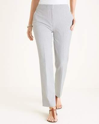 So Slimming Pinstriped Straight-Leg Pants
