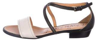 Lanvin Leather Ankle-Strap Sandals