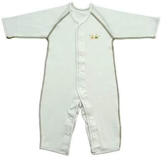 Baby Story (ベビー ストーリー) - ベビーストーリー あったか厚手素材 長袖前開きカバーオール 80cm N60613 日本製