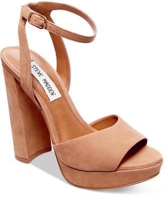 Steve Madden Women's Brrit Platform Sandals $109 thestylecure.com