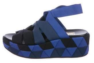 Salvatore Ferragamo Geometric Pattern Platform Sandals