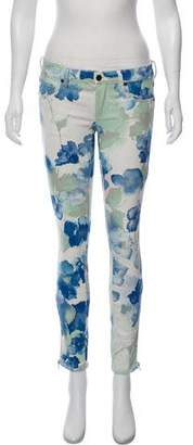 Genetic Los Angeles Low-Rise Floral Metallic Jeans