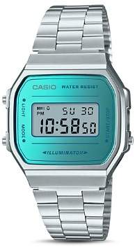 Casio Vintage Digital Blue Watch, 36.3mm x 36.3mm
