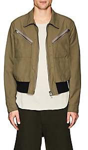 Eidos EIDOS MEN'S ASBURY CANVAS BOMBER JACKET-GREEN SIZE 54 EU