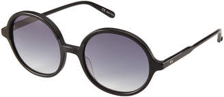 Garrett Leight Black Nowita Round Sunglasses