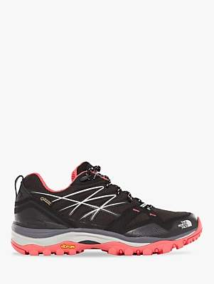 The North Face Hedgehog Fastpack GTX Waterproof Women's Hiking Shoes, TNF Black/Atomic Pink