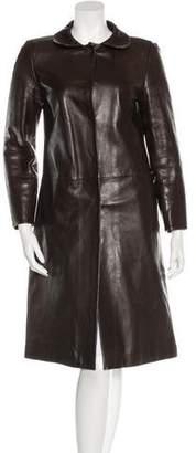 Joseph Long Leather Jacket