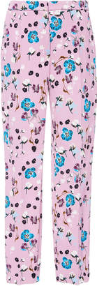 Escada Talaranto Mid Rise Printed Cotton-Blend Pants