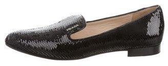 pradaPrada Sequined Round-Toe Loafers