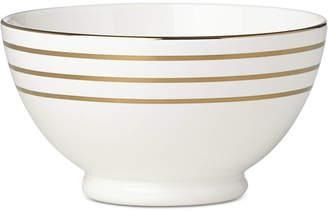 Kate Spade Charles Lane Gold-Tone Stripe Accents Fruit Bowl