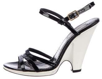 Marc Jacobs Patent Leather Wedge Sandals