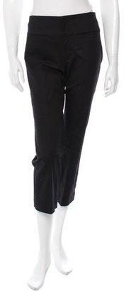 Yohji Yamamoto Cropped Straight-Leg Pants w/ Tags $225 thestylecure.com