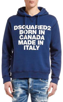 DSQUARED2 Men's Logo Typographic Hoodie