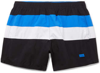 f344702b7 HUGO BOSS Mid-Length Striped Swim Shorts