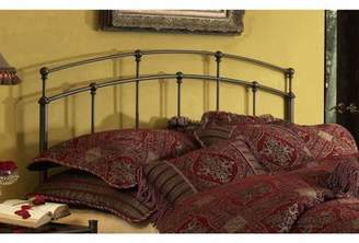Fashion Bed Group Fenton Metal Headboard Panel with Gentle Curves, Black Walnut Finish, Queen