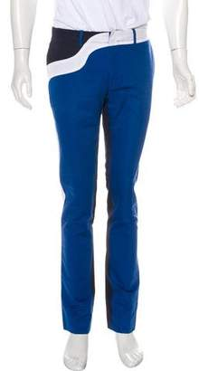 Kenzo Collorblock Flat Front Pants