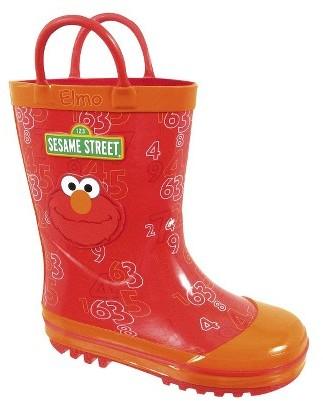 Sesame Street Toddler Boy's Elmo Rain Boot - Red