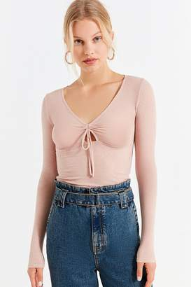 Out From Under Darcie Ruched Long Sleeve Top