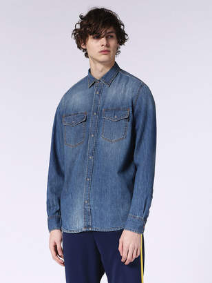 Diesel Denim Shirts 0PASD - Blue - L