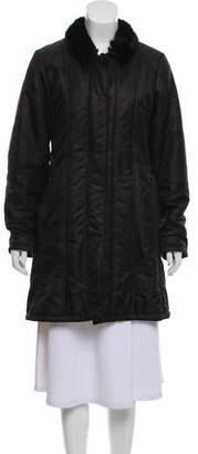Cinzia Rocca Fur-Trimmed Knee-Length Coat