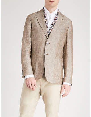 OSCAR JACOBSON Edgar slim-fit linen blazer
