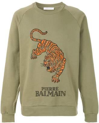 Pierre Balmain tiger print sweatshirt