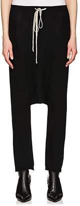 Rick Owens Women's Cashmere Bouclé Drop-Rise Sweatpants - Black