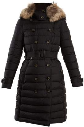 Burberry Dalmerton fur-trimmed quilted down coat