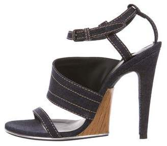 Bottega Veneta Denim Caged Sandals