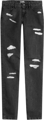 Karl Lagerfeld Paris Distressed Skinny Jeans
