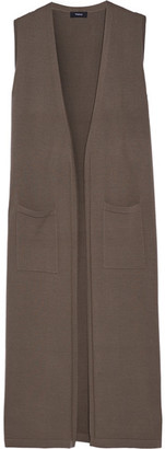 Theory - Torina Merino Wool Vest - Army green $345 thestylecure.com