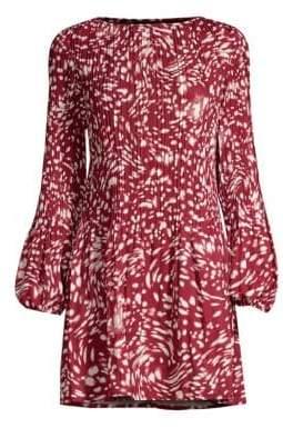 Maje Pleated Mini Dress