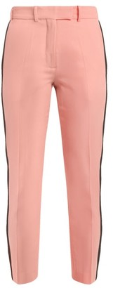 Racil Aries Side Stripe Skinny Wool Cropped Trousers - Womens - Pink