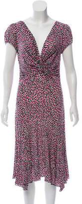 Blugirl Polka Dot Printed Midi Dress
