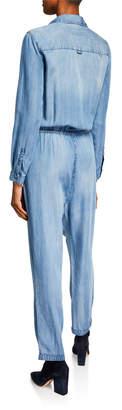 Velvet Heart Norma Chambray Button-Down Jumpsuit
