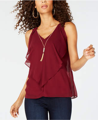 Thalia Sodi Ruffled Ladder-Back Top, Created for Macy's