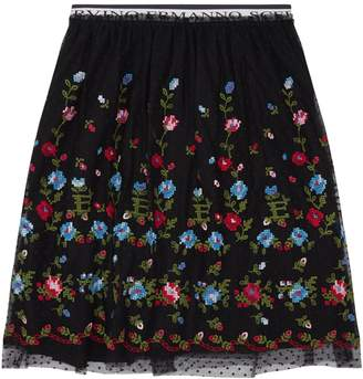 Ermanno Scervino Floral Embroidered Skirt