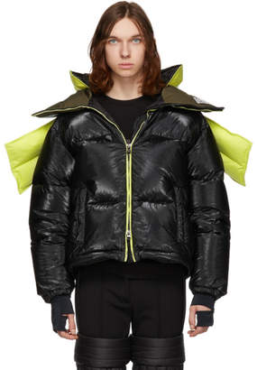 Colmar A.G.E. by Shayne Oliver Yellow and Black Down Tyvek Concept Coat