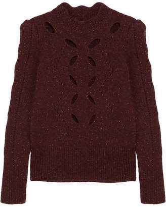 Isabel Marant Elea Cutout Knitted Sweater - Burgundy