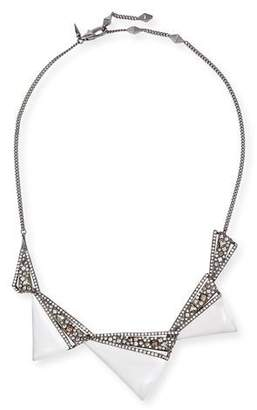 Alexis Bittar Crystal Origami Bib Necklace $275 thestylecure.com