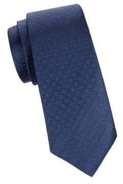 Saks Fifth Avenue Medallion Print Silk Tie
