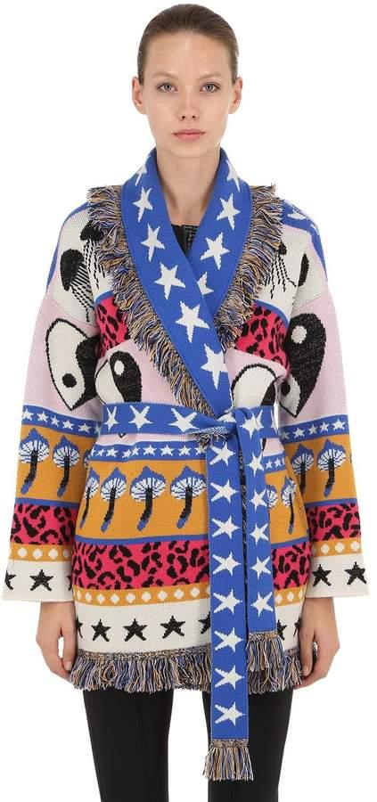 Alanui Psychedelic Mushrooms Cashmere Jacket