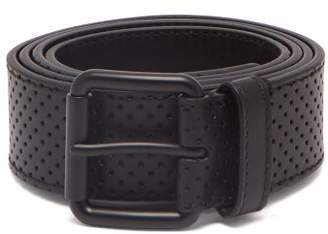 Bottega Veneta Perforated Leather Belt - Mens - Black